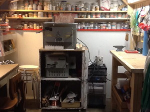 Barbara's enamel studio